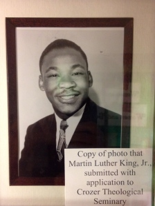 Martin Luther King as a potential student to Colgate Rochester Seminary, long before he came to know of arcs of history and mountaintops.