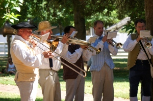 The Moravians never miss a chance for brass music.