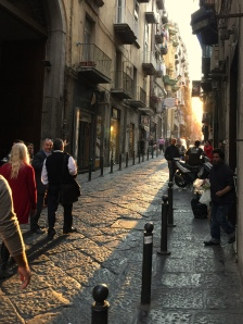 Central Strada in old napoli.
