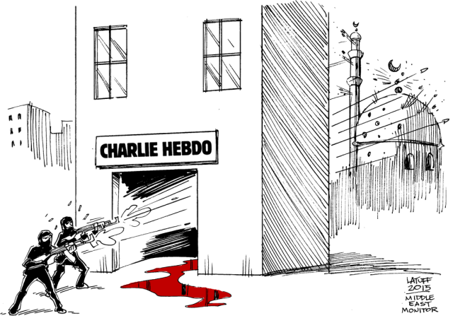 Carolos Latuff, one of hundreds of visual jounalists speaking into the horror of Paris.