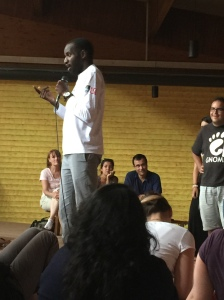 Shingai helps the Taize seekers find their agency by experiencing their ability to move.