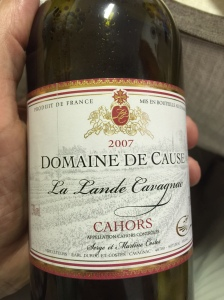 "This has nothing to do with the blog, but I took it as a sign from God that some really, really good Burgundian wine is from a vineyard named ""Domaine De Cause"""
